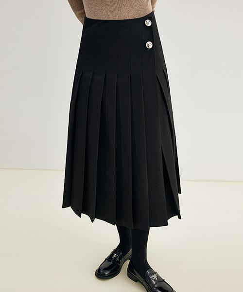 【Fano Studios】【2021AW】Classic pleated midi skirt FD21B006
