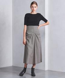 <VONDEL(フォンデル)>フロントギャザー スカート