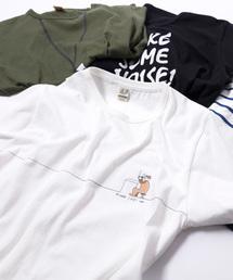grn(ジーアールエヌ)の2+30柄天竺 半袖プリントTシャツ(Tシャツ/カットソー)