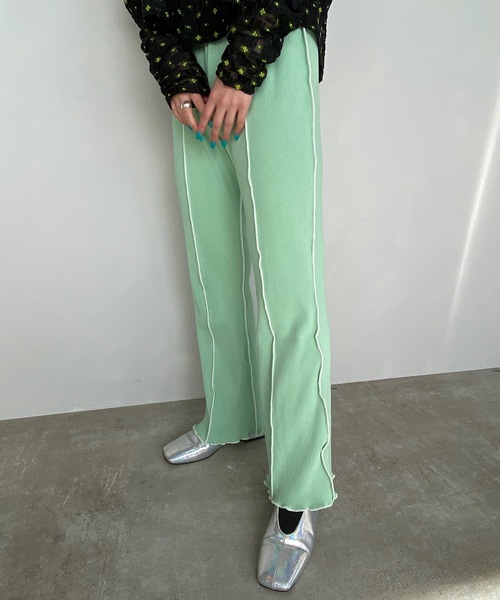 【SANSeLF】Se mellow rib pants sanwt6