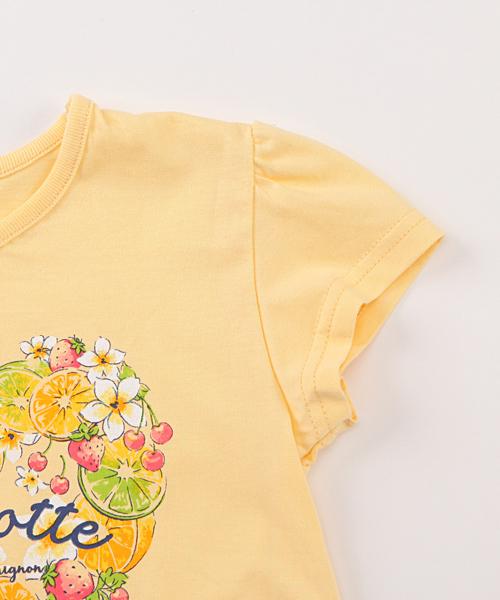 ガールズ フルーツフラワーハート柄 半袖Tシャツ