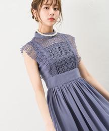 Andemiu(アンデミュウ)の【選べる着丈】【WEB限定】レースキリカエシフォンドレス 824347(ドレス)