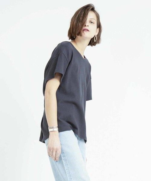 スラブツイストプルオーバーTシャツ