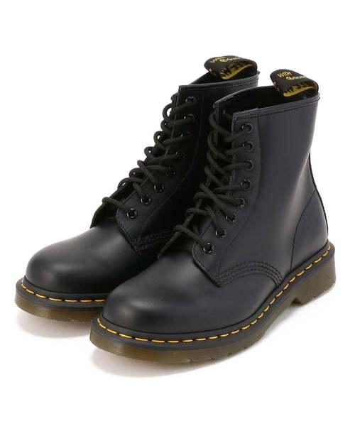 セール 登場から人気沸騰 Dr.Martens BOOT/ドクターマーチン/1460 8HOLE RAWLIFE BOOT -BLACK SMOOTH-(ブーツ) MEN