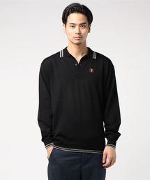 ROAD SIGN刺繍 ポロシャツブラック