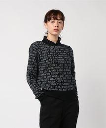 THE MODS TOP 50総柄ジャカート襟付きプルオーバーブラック