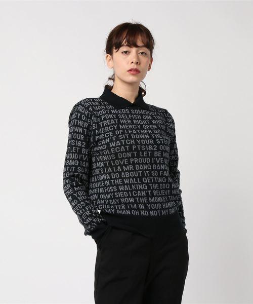 THE MODS TOP 50総柄ジャカート襟付きプルオーバー