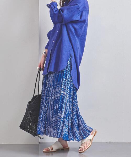 UWFM バンダナ プリーツスカート