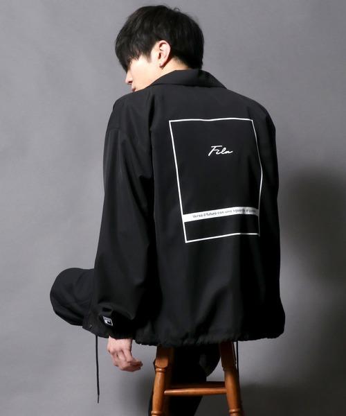 【FILA】Arm print&Back print Coach jacket/プリントコーチジャケット【2021 SPRING】