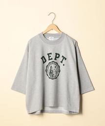 CVCインレイプリントTシャツ(7分袖カットソー)
