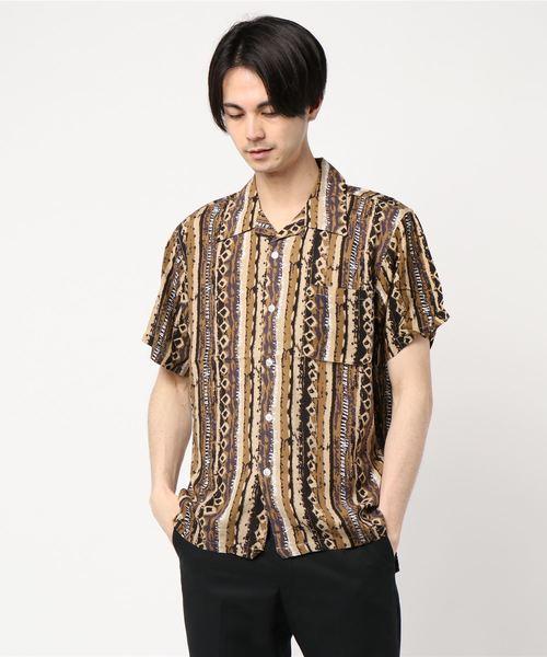 BAYCANT レーヨンバティック S/Sシャツ