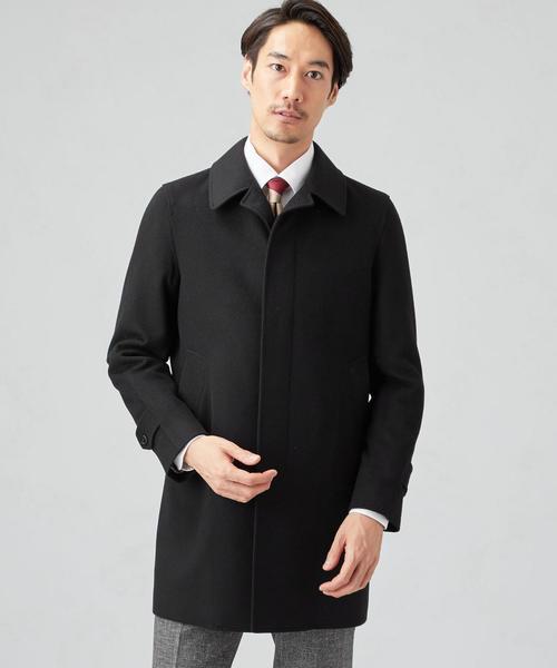 W/カシミヤ ステンカラーコート