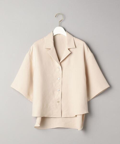 BY オープンカラー6分袖シャツ