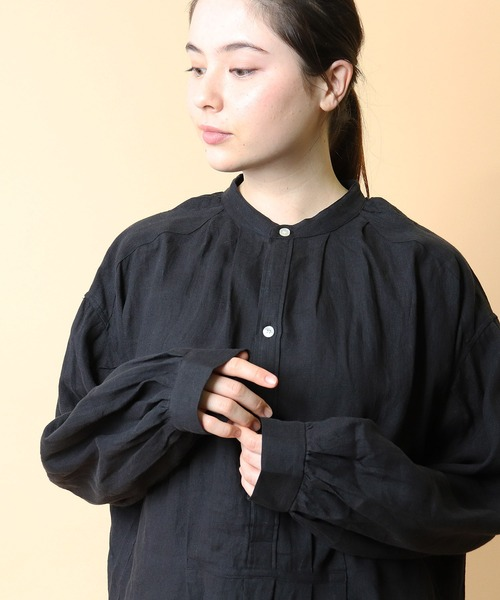 【 Le Sans Pareil / ルサンパレイユ 】LINEN BIAUDE SHIRT PO リネン ビヨード シャツ