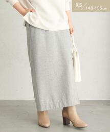 【WEB限定】[ XS /H148-155�p]ウォッシャブル フラノ タイト スカート
