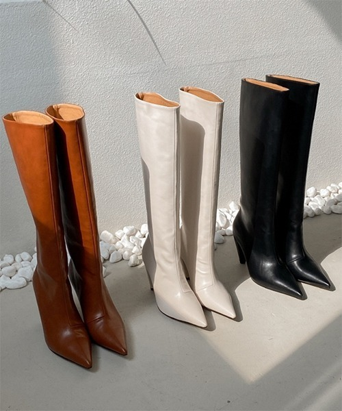 【chuclla】【2021/AW】Pointed toe long boots chs21a026