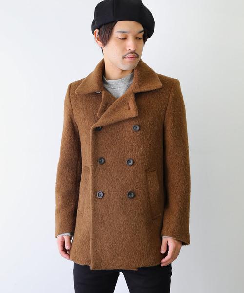 【人気沸騰】 【セール アンド】ALPACA & SHAGGY DOUBLE CLOTH SHAGGY DOUBLE Pコート(ピーコート)|LOUNGE LIZARD(ラウンジリザード)のファッション通販, プラッツティーズ:b8cc32db --- 5613dcaibao.eu.org