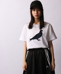 【STAPLE】ピジョンプリント配色切替Tシャツ(Tシャツ/カットソー)