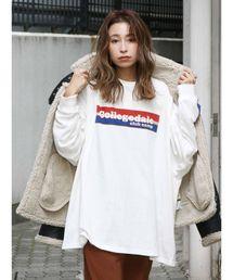 Ungrid(アングリッド)のCollegedaleロゴロングスリーブTee(Tシャツ/カットソー)