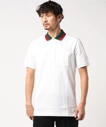 GUCCI グッチ ストレッチ コットンピケ ウェブカラー 鹿の子 ポロシャツ 408321-X7331 メンズ(ポロシャツ)