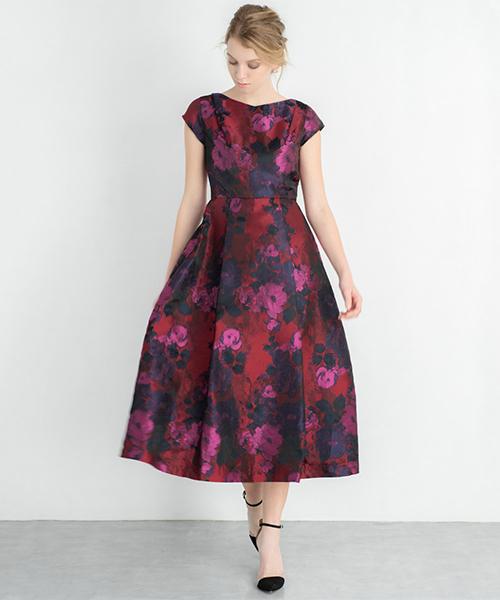 753e76ef1b0de ... ワンピース · ドレス  アイテム詳細. GIRL(ガール)の「フラワージャガードミモレ丈フレア結婚式ワンピース・お呼ばれ
