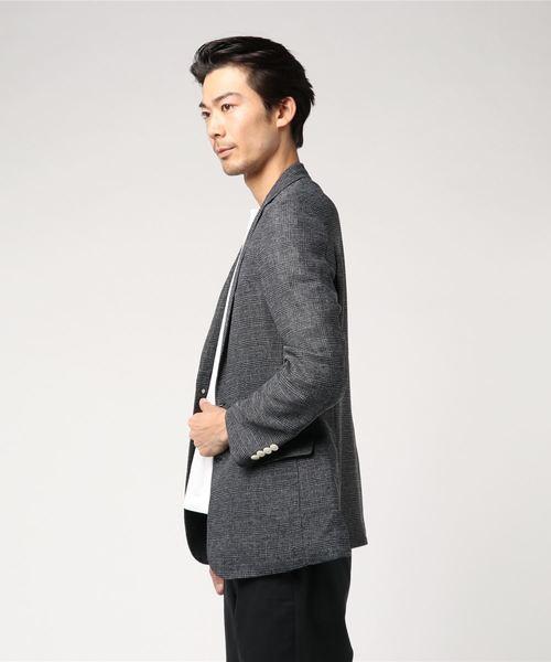 レノマ オム/renoma HOMME メランジカラミ織グレンチェック柄2釦ジャケット
