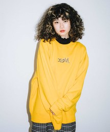 X-girl(エックスガール)のLEOPARD LOGO CREW SWEAT TOP(スウェット)