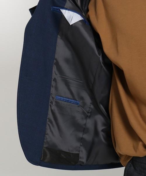ポンチクラシックチェックプリントジャケット