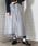 &g'aime(アンジェム)の「【&g'aime】2WAY/ドットチュールアシメボリュームスカート(スカート)」|グレー