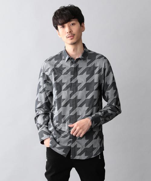 【LOVELESS】ハウンドトゥースシャツ