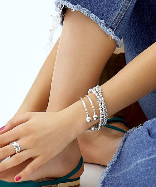 【WEB限定】 PHILIPPE AUDIBERT トリオブレスレット / perles metal 3 rangs /  /フィリップオーディベール