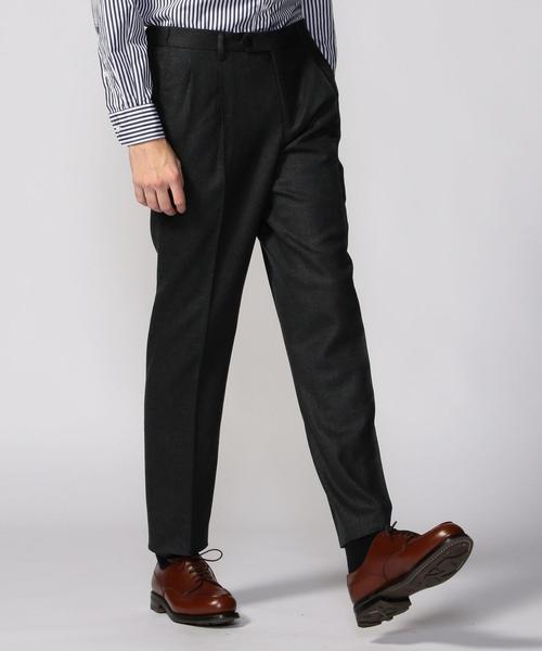 いいスタイル TOMORROWLANDストレッチフランネル 2プリーツイージースラックス(スラックス) TOMORROWLAND(トゥモローランド)のファッション通販, 小浜市:34c54df2 --- wm2018-infos.de