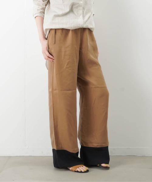 LUCA/LADY LUCK LUCA(ルカ/レディラックルカ)の「MAISON O+LUCA 裾切り替えキュプライージーパンツ(パンツ)」|キャメル
