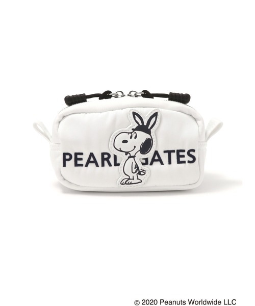 【SNOOPY×PEARLY GATES】SNOOPYワッペン ボールポーチ