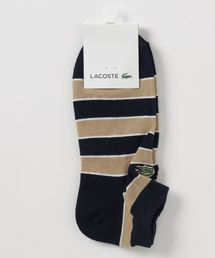 a4976f6fe52620 LACOSTE(ラコステ)の「トリプルボーダー スニーカー丈ソックス(ソックス/靴下)