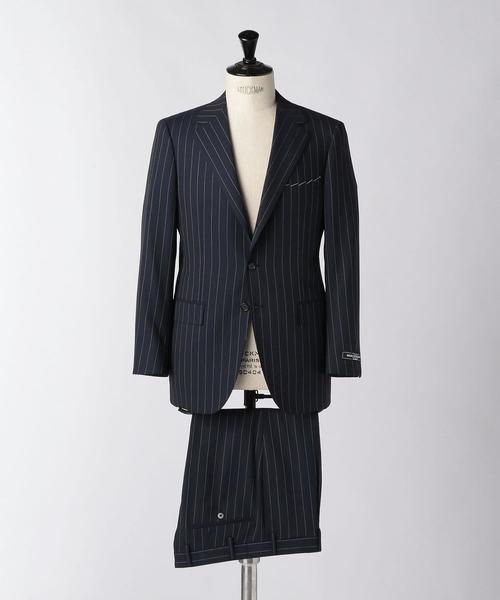 <SOVEREIGN(ソブリン)> ピンストライプ 3B スーツ