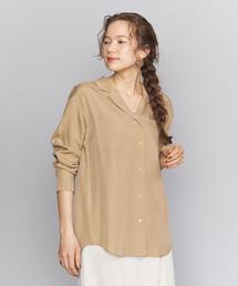 BY キュプラオープンカラーシャツо