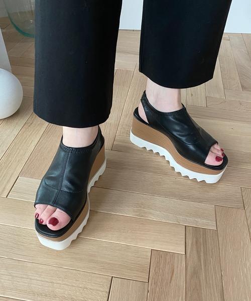 【chuclla】Platform back-strap open-toe sandal sb-6 chs55