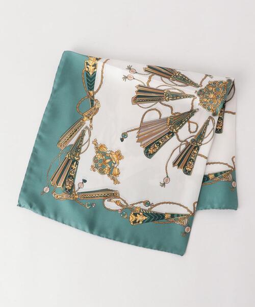 <LELLE> プリント スカーフ 52×52