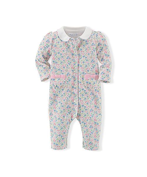 48518bc1187a5 Polo Ralph Lauren Childrenswear(ポロ キッズ)の「フローラル コットン カバーオール(ロンパース)