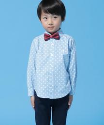 【オケージョンにもおすすめ・coen キッズ / ジュニア】ドットカッタウェイシャツ(100〜150cm)