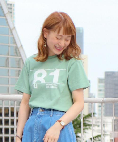 カレッジプリントベーシックTシャツ2