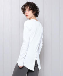 <R JUBILEE>RIB SNAP PULLOVER/カットソー.