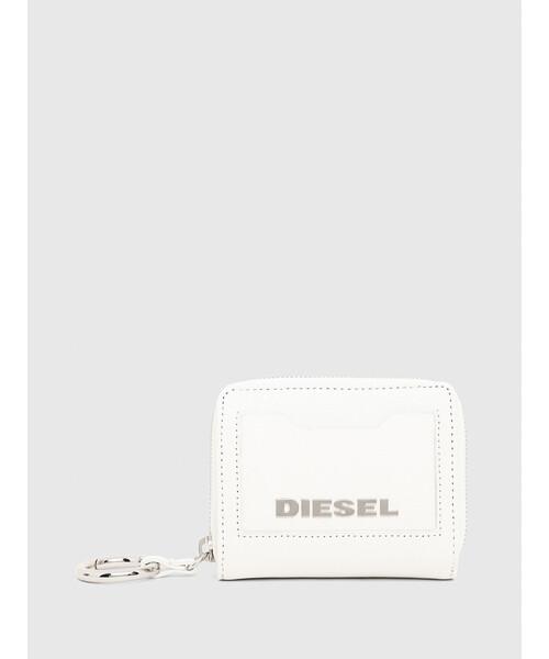 DIESEL(ディーゼル)の「レディース レザー 二つ折り財布(財布)」|ホワイト