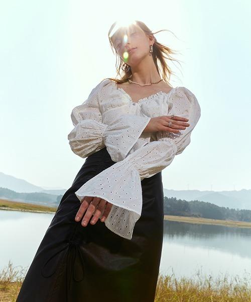 【Fano Studios】【2021SS】Lantern sleeve tight blouse FC21S022
