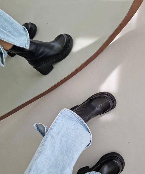 【chuclla】【2021/AW】Round toe short boots chs21a027