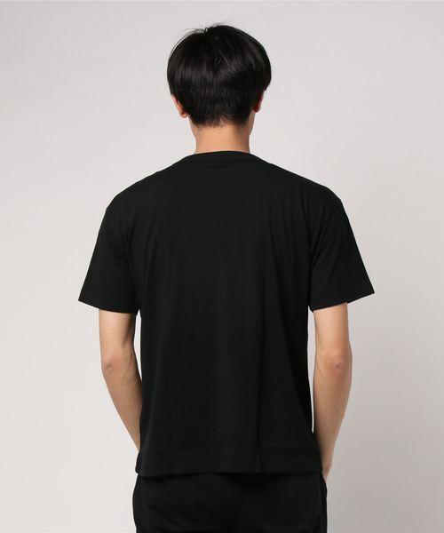 ポケット付きドロップショルダーTシャツ C8-M334
