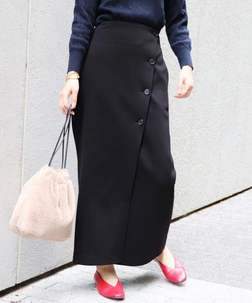 JOURNAL STANDARD(ジャーナルスタンダード)の「《WEB限定》JS+eポンチ起毛タイトマキシスカート◆(スカート)」|ブラック
