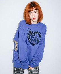 X-girl(エックスガール)のBUZZED BUNNY L/S SWEAT TOP(スウェット)