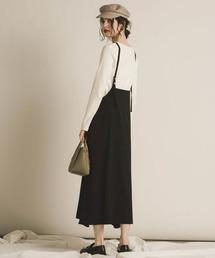 socolla(ソコラ)の【WEB別注】【socolla】サスぺ付き2WAYスカート(スカート)